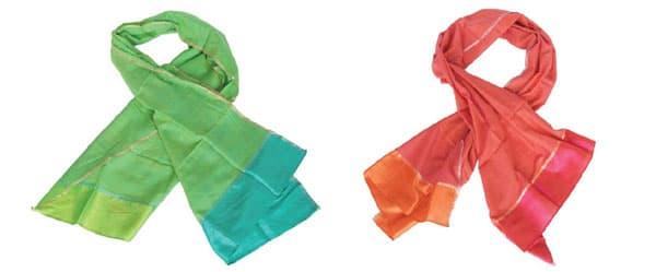 handgeweven sjaals india fair trade zijde