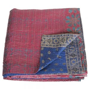 kantha zijden sari deken sitala fairtrade