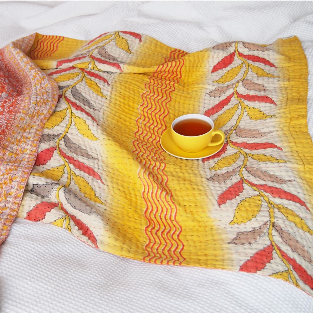 kantha sari blankets throws quilts