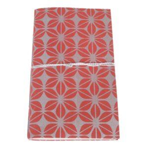 fair trade notitieboekje jute papier rood zilver zeefdruk bangladesh