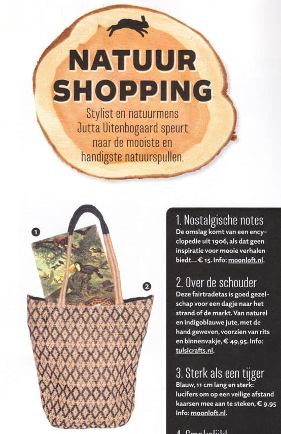 fairtrade tas indigoblauw jute roots magazine