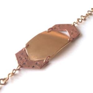 armband chevron koper messing fair trade sieraden
