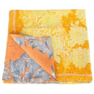 kantha zijden sari deken mallika fairtrade