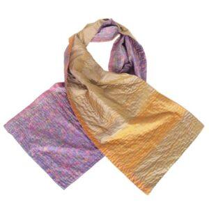 zijden sjaal sari kantha hyacinth eerlijke mode