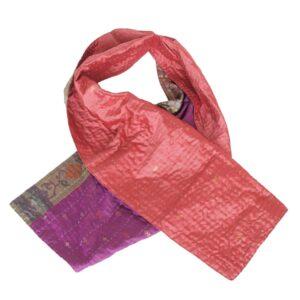 sjaal zijde sari kantha takta handgemaakt