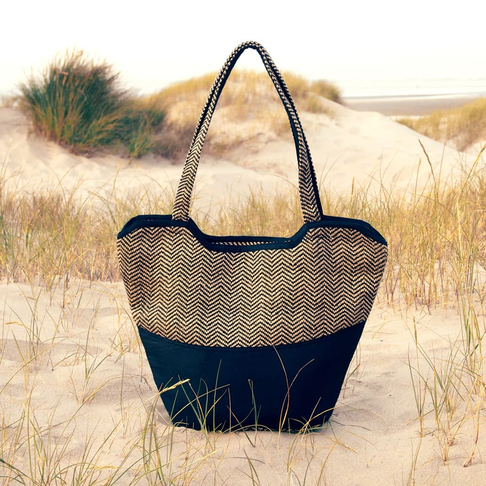 ethical fashion bag beach bag jute