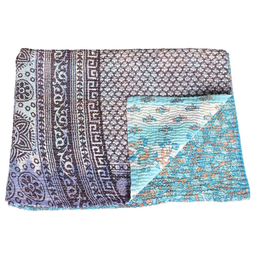 Cotton Sari Kantha Blanket Mini Misti Tulsi Crafts