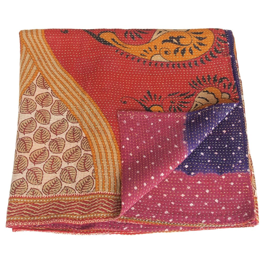 Cotton Sari Kantha Blanket Big Tyara Tulsi Crafts