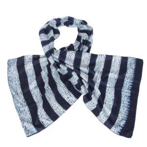 luxe sjaal indigo shibori eri zijde stripe handgemaakt