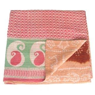 kantha sari deken katoen daya fair trade india