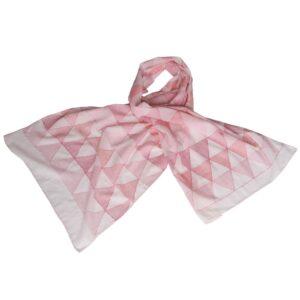 kantha sjaal khadi handgeweven katoen robijn eerlijke mode