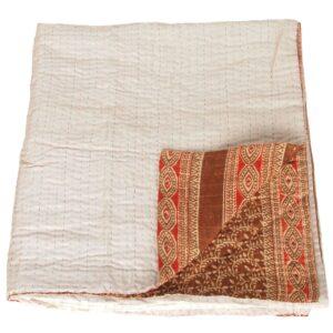 kantha zijde katoen sari deken badami fair trade bangladesh
