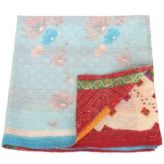 kantha zijden sari deken rana fairtrade