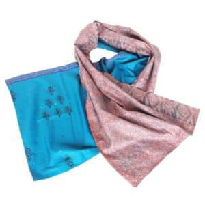 sjaal zijde sari kantha kana fair trade