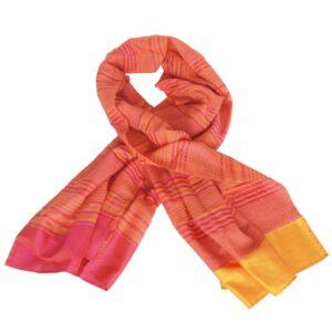 zijden duurzame sjaal handgeweven india crocus eerlijke mode