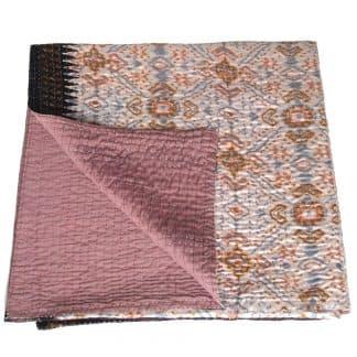 kantha zijden sari deken kalo fairtrade