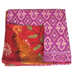 kantha zijden sari deken mlana fair trade bangladesh