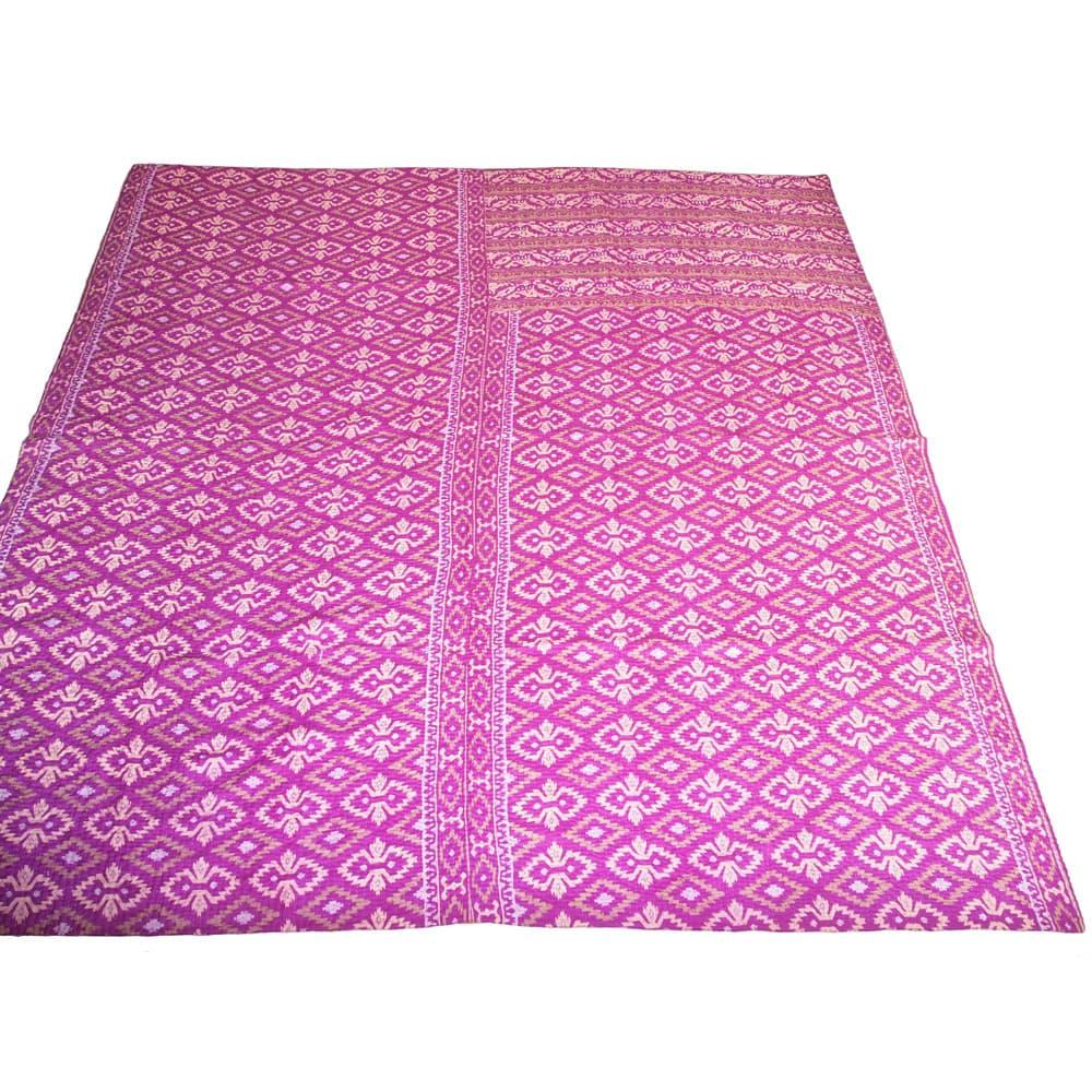Silk Sari Kantha Blanket Big Mlana Tulsi Crafts