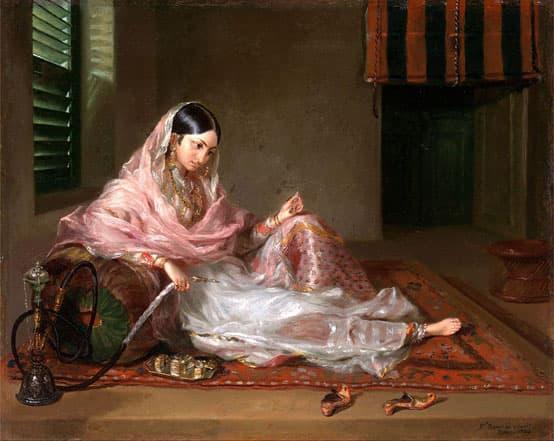 khadi vrouw in mousseline
