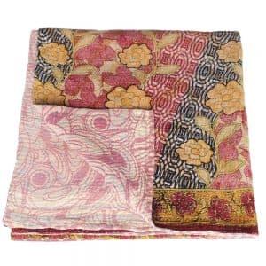 indiase sprei kantha sari deken katoen matha