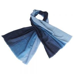 merino sjaal blauw eerlijke mode