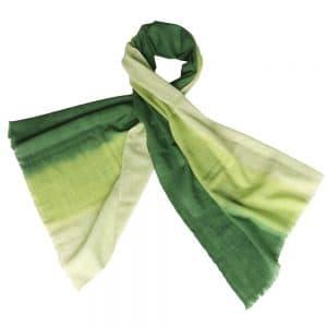 sjaal merino wol groen eerlijke mode