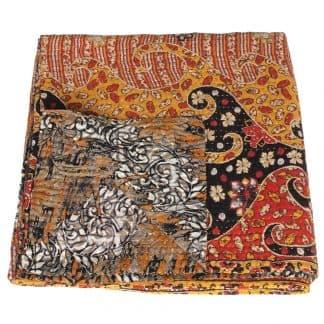 kantha sari deken zijde sata fair trade india