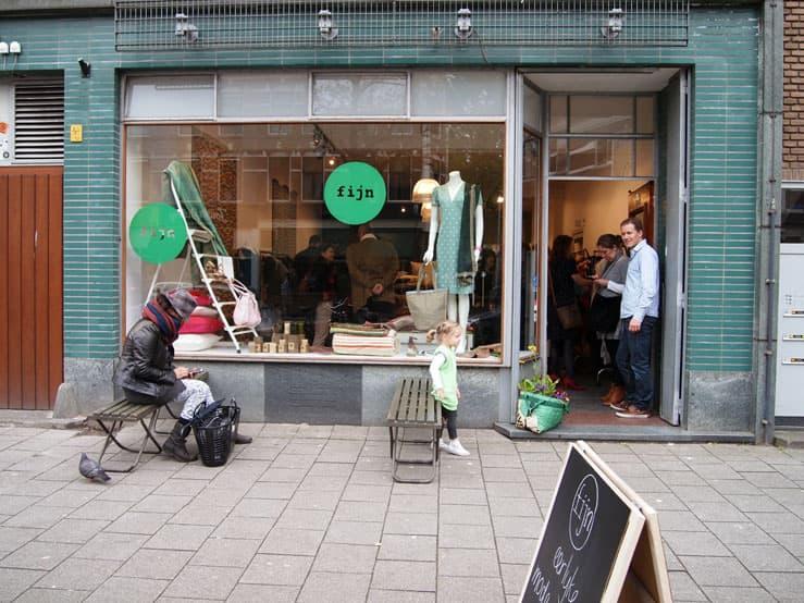 opening fijn popup store entrance window