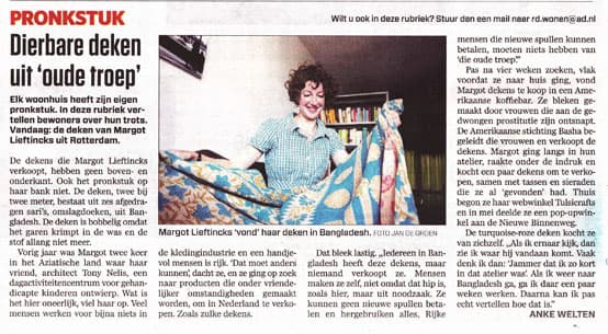 interview newspaper algemeen dagblad pronkstuk