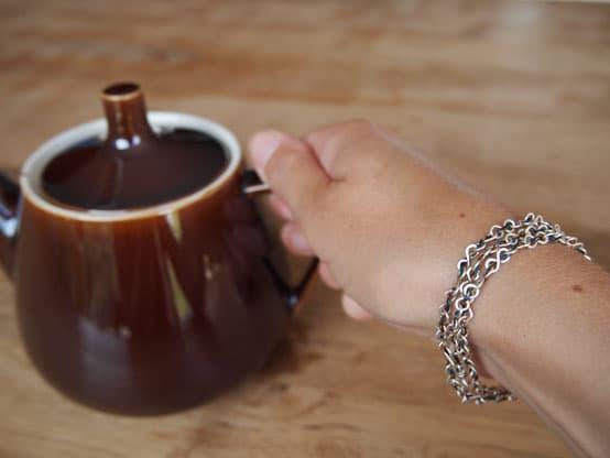tulsi silver sari silk necklace bracelet