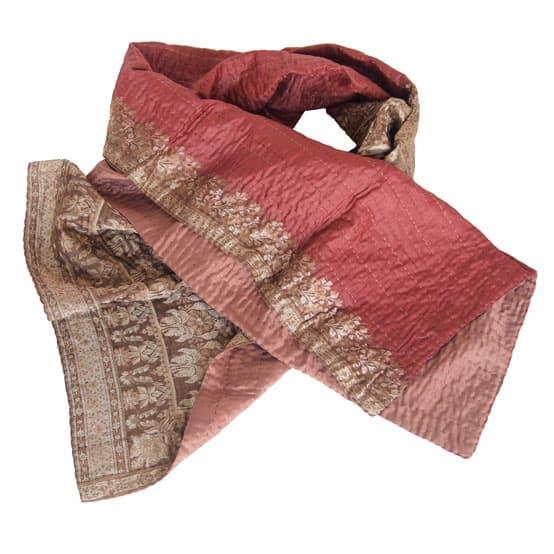 sjaal zijde sari kantha red queen overview