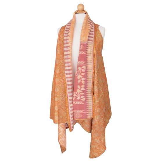zijden sari shrug sjaal