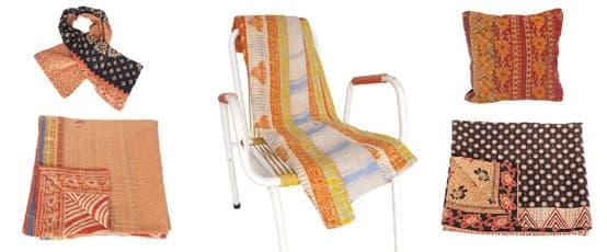 kantha love sari blanket quilt throw deken