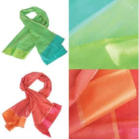 handwoven ethical silk scarves India mulberry silk