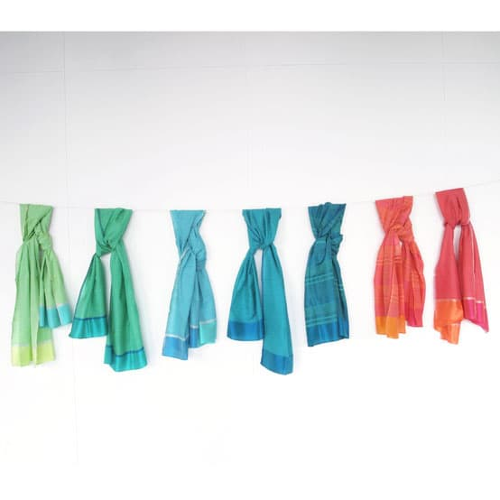 silk scarves handwoven india