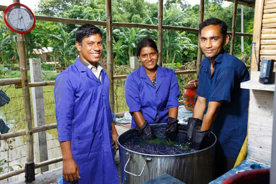 indigo scarves dyeing bangladesh fair trade