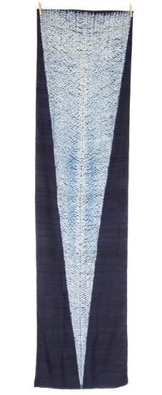 indigo shibori silk scarf arrow_fairtrade bangladesh