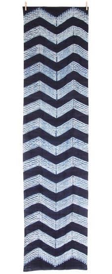 indigo shibori eri zijde sjaal zigzag_fairtrade bangladesh
