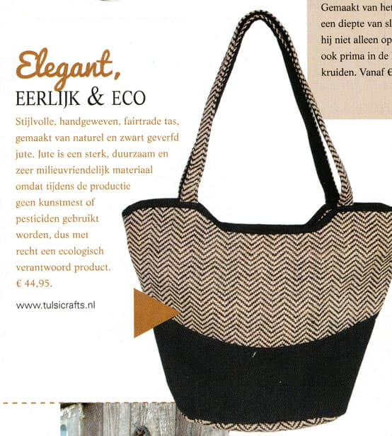 elegant fair eco jute bag in landleven magazine