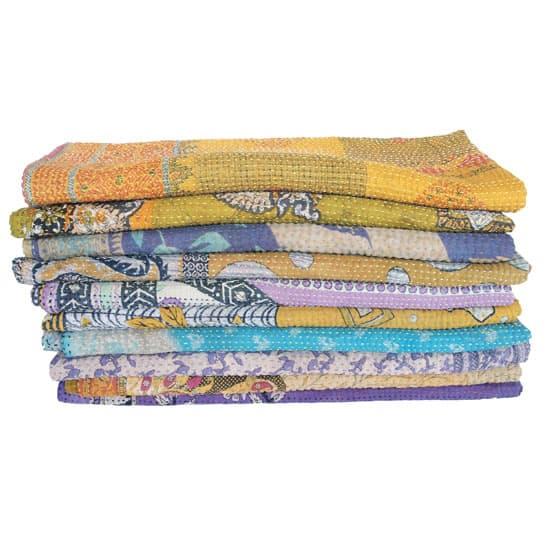 kantha sari baby blankets
