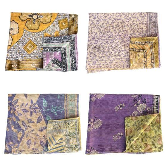 kantha sari baby blankets_fair trade india