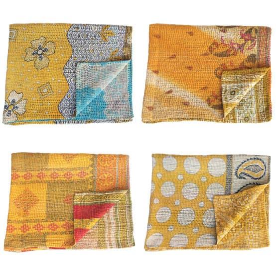 kantha sari baby blankets_upcycled