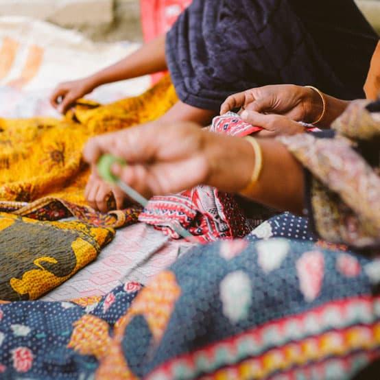 kantha sari handmade fair trade india