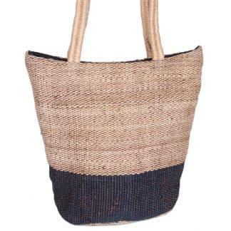 ethical bag jute selina indigo stylish
