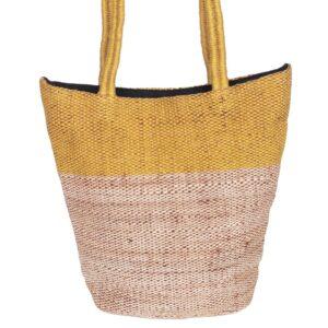 fair trade tas jute selina oker stijlvol