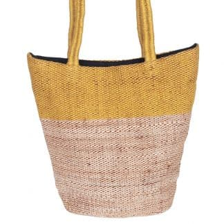 ethical fair trade bag jute selina ochre stylish