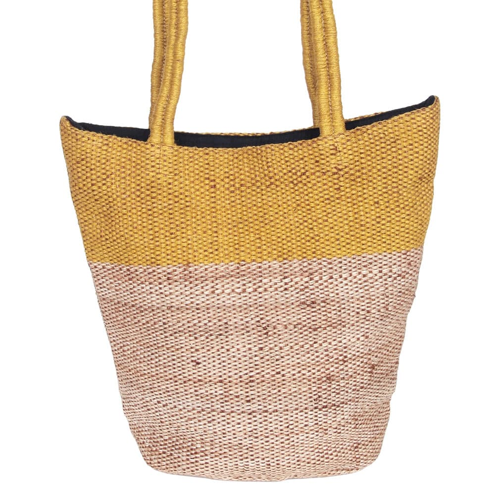 ethical fair trade bag jute selina ochre stylish