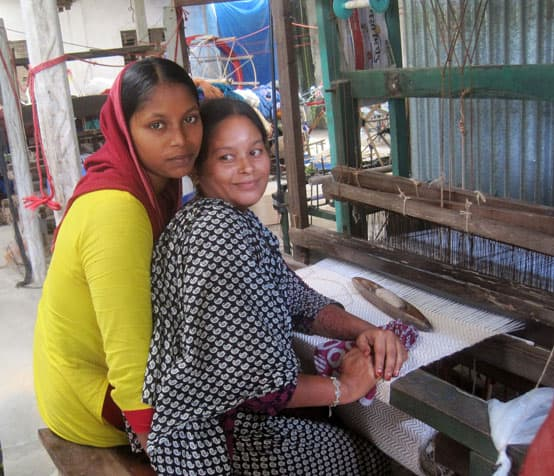 weaving with a handloom