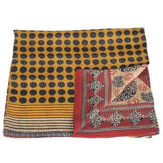 kantha sari blanket cotton jhara ethical
