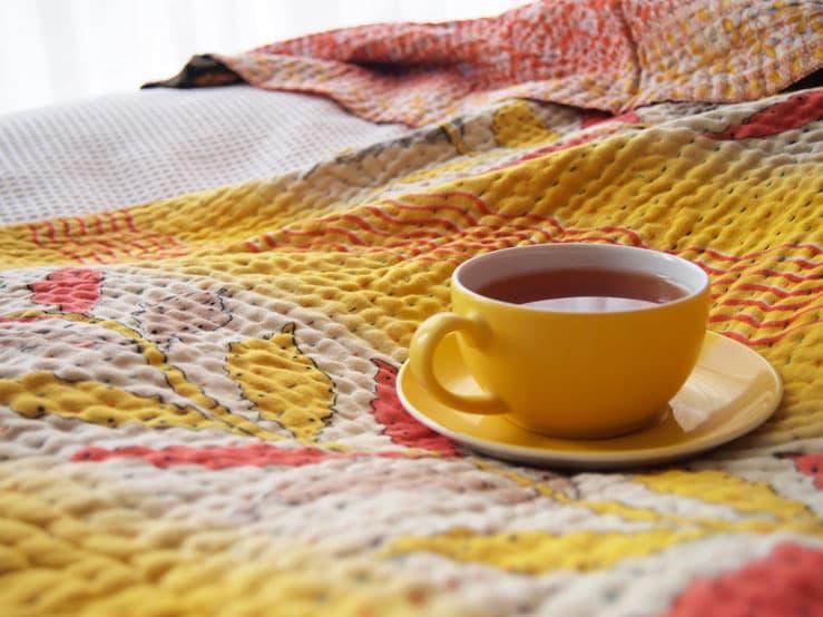 kantha sari deken sprei plaid